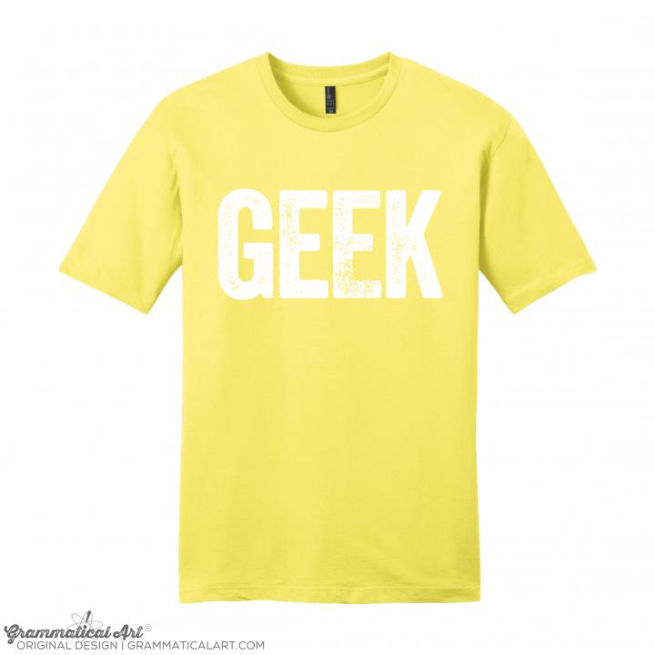 mens geek yellow