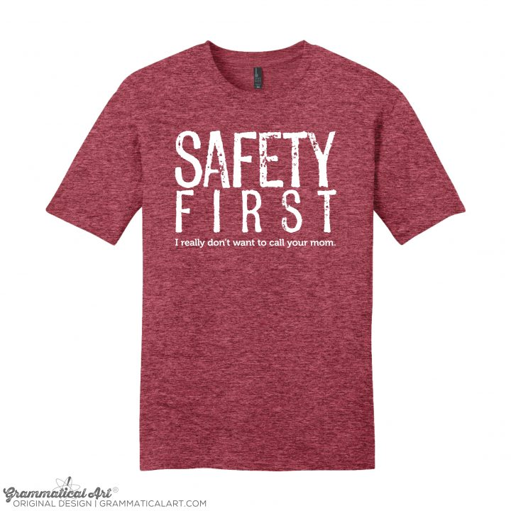 mens safety red