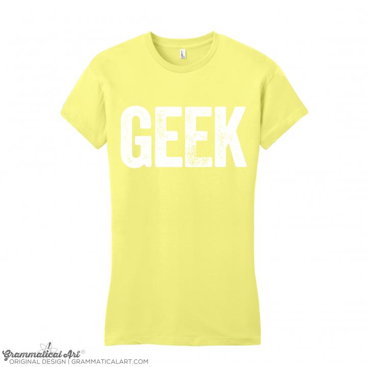 womens geek yellow