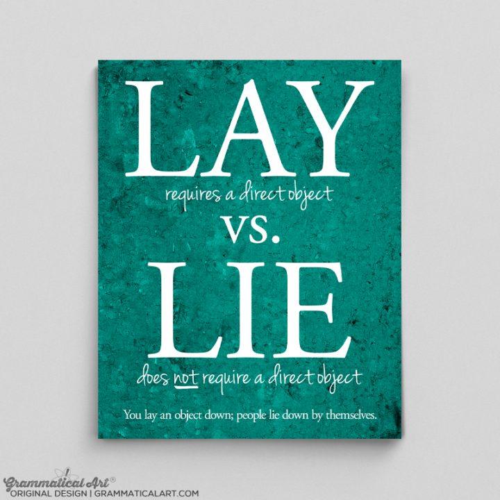 lay lie