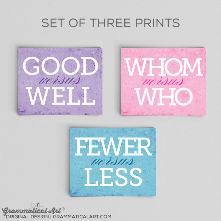 set of three good fewer whom