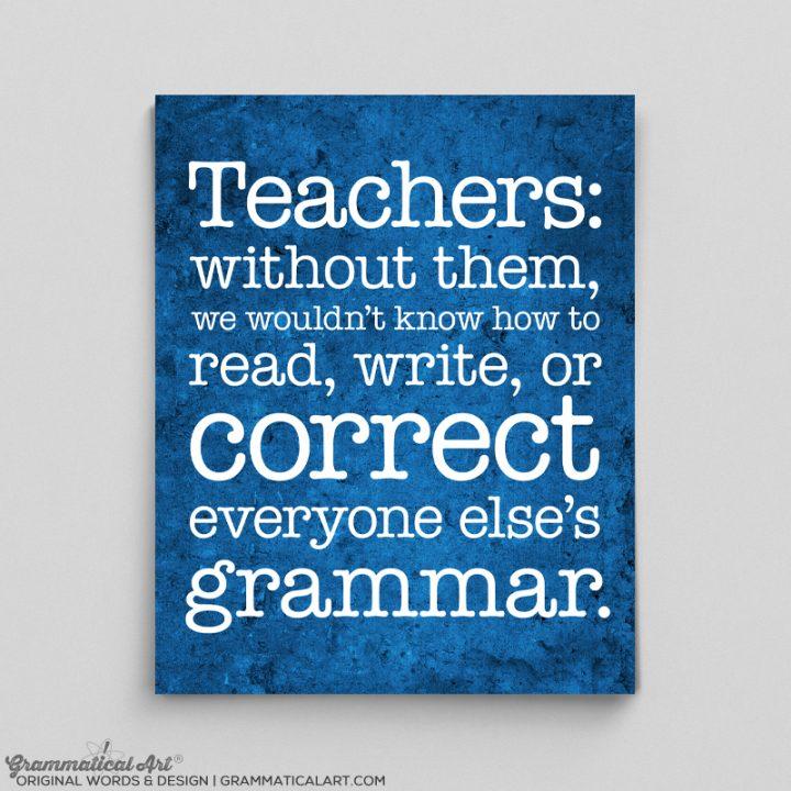 teachers correct