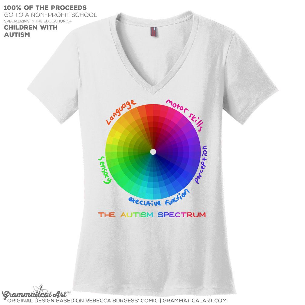 autism spectrum new women's v neck