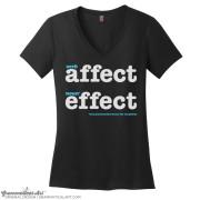 affect v neck black