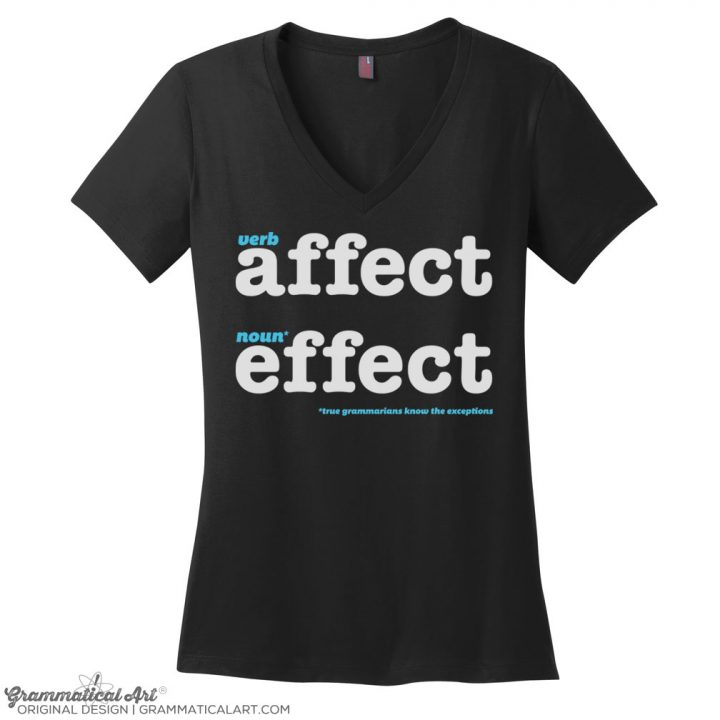 affect v neck black