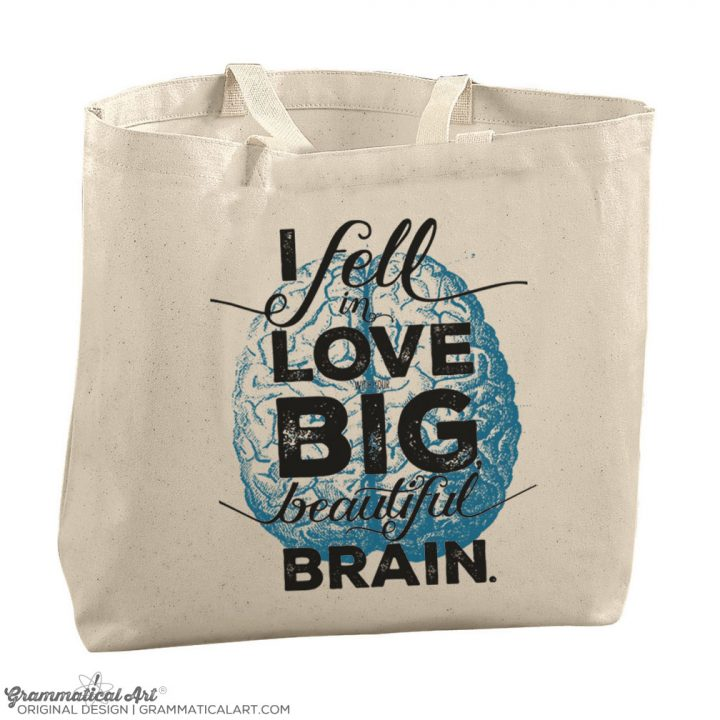 beautiful brain tote