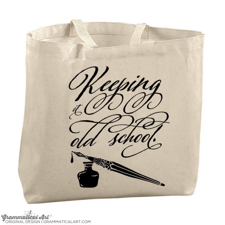 calligraphy tote