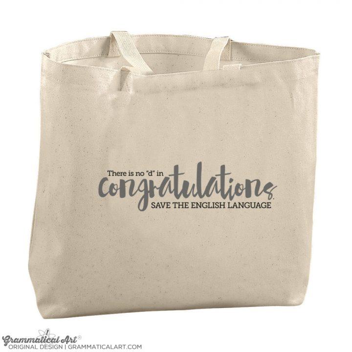 congrats tote