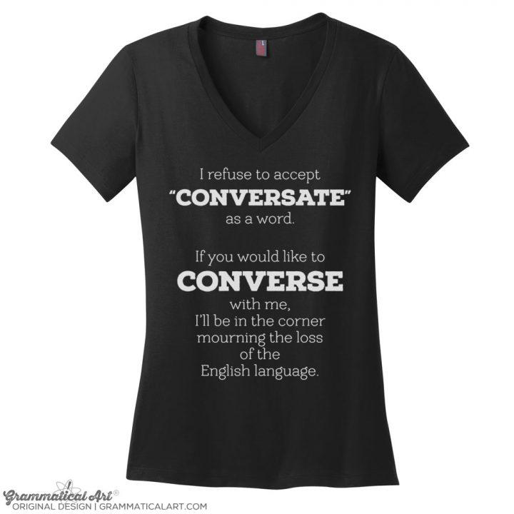 conversate v neck black