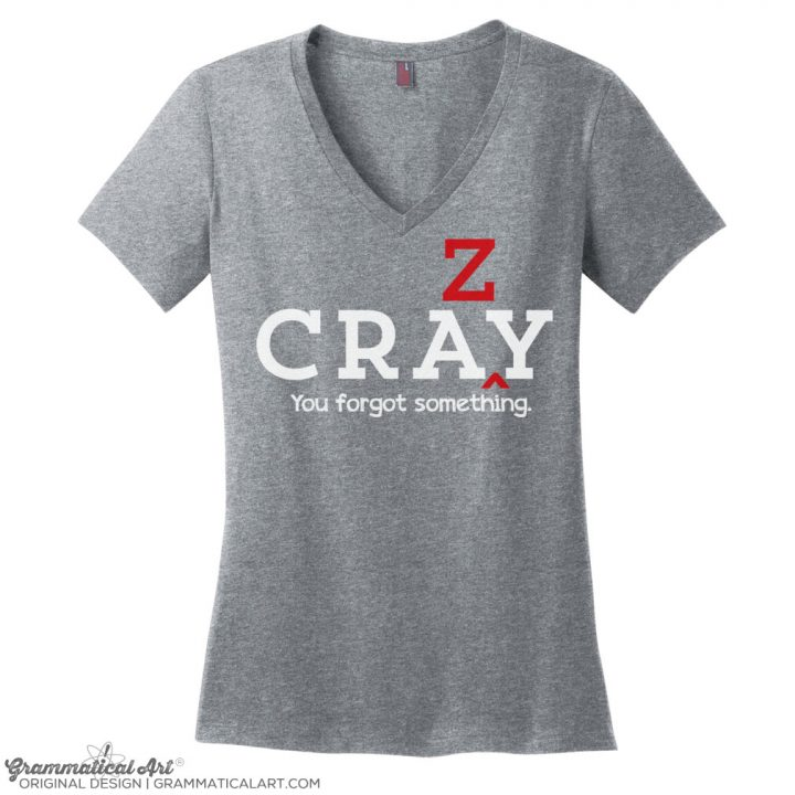 cray v neck gray