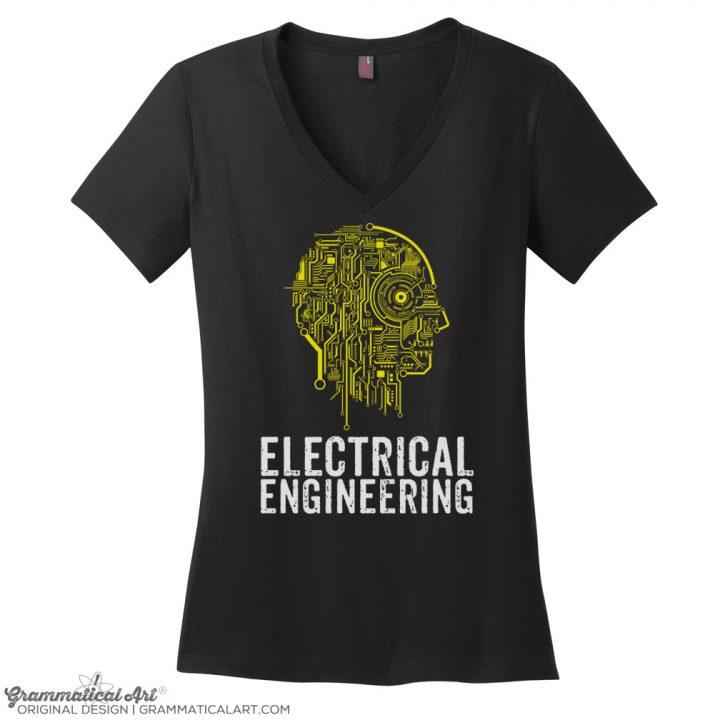 electrical v neck black