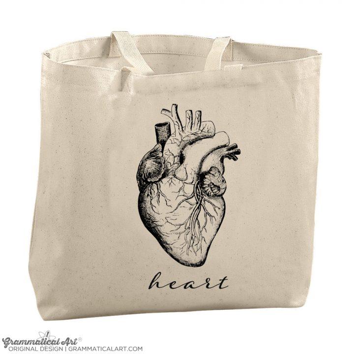 heart anatomy tote