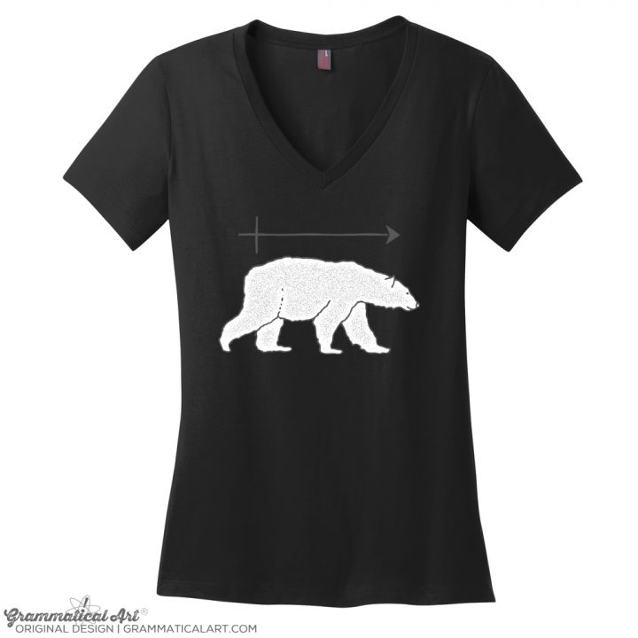 polar bear v neck black