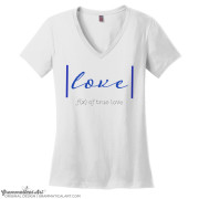 true love v neck white
