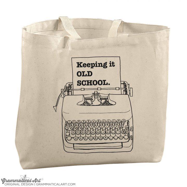 typewriter tote