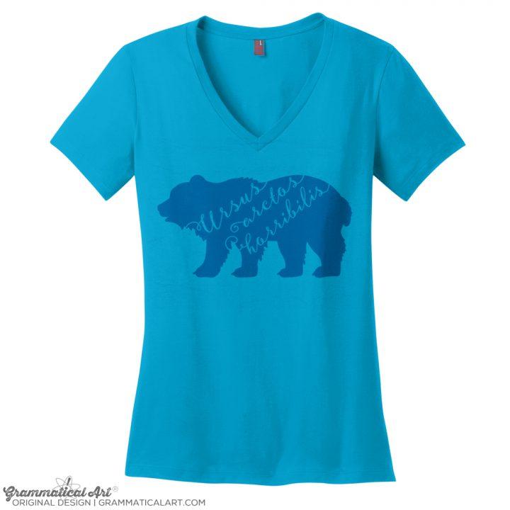 ursus bear v neck turq