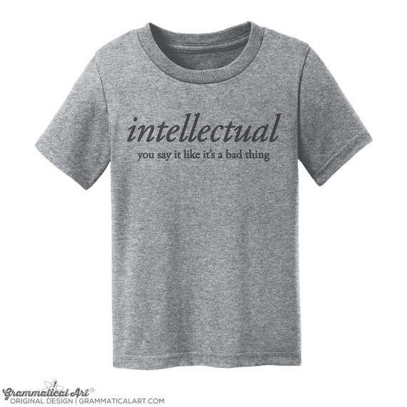 intellectual kids shirt