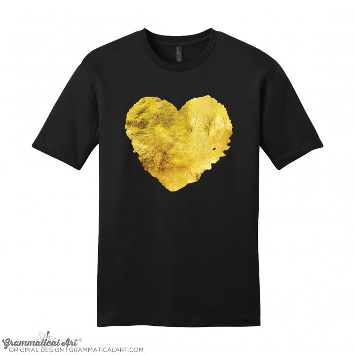 m gold heart black