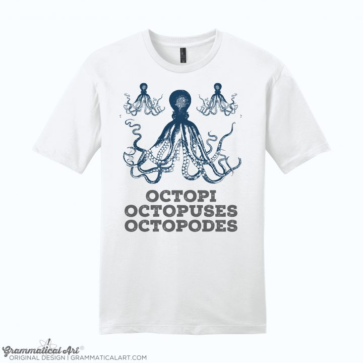 mens octopi white
