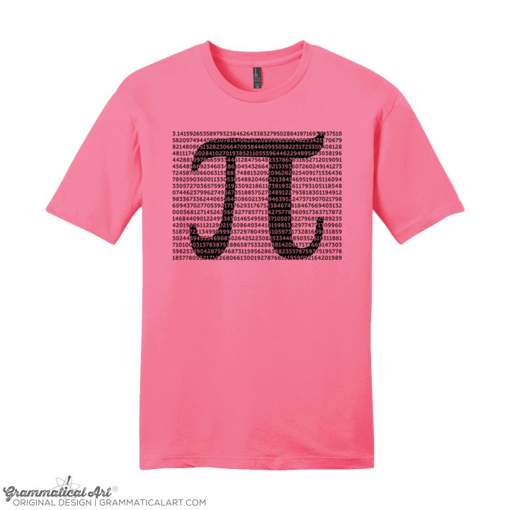 mens pi digits pink