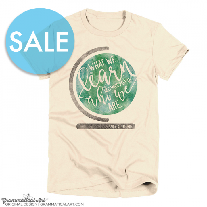 sale learn shirt
