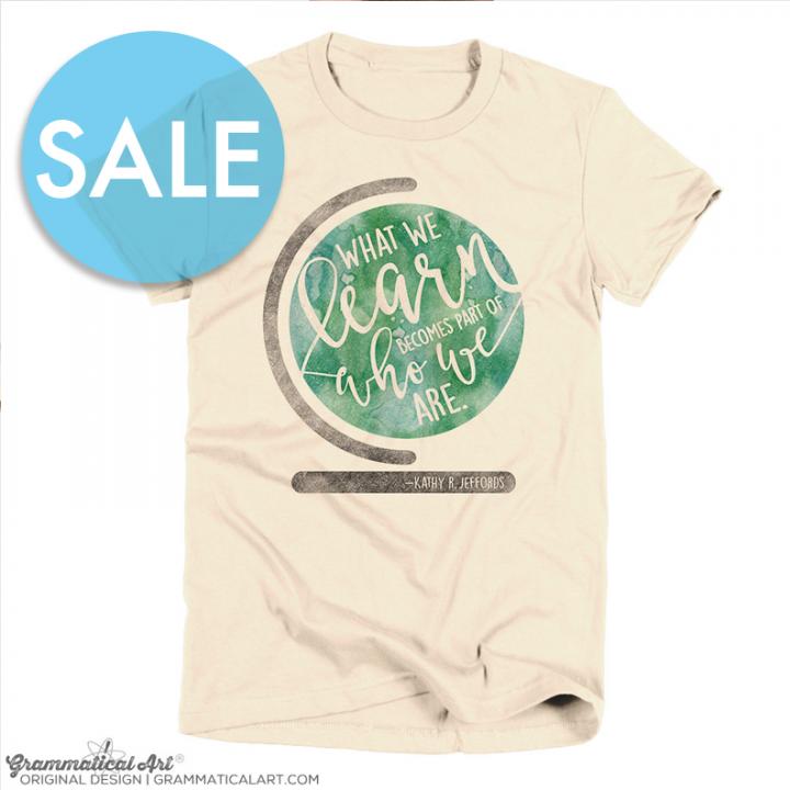 sale learn shirt