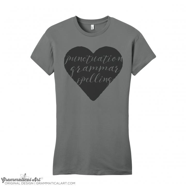 w punctuation heart NO FOIL slate