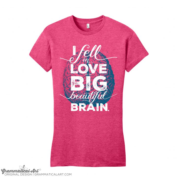 womens big brain h pink