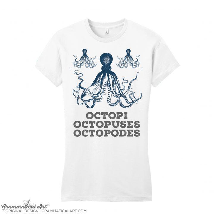 womens octopi white