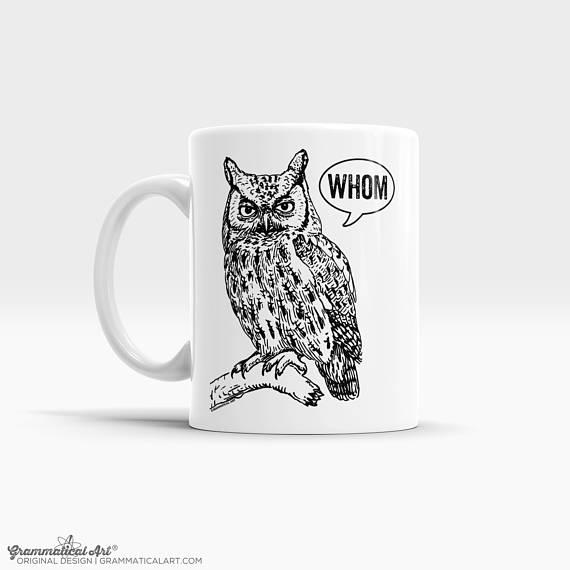 whom owl mug