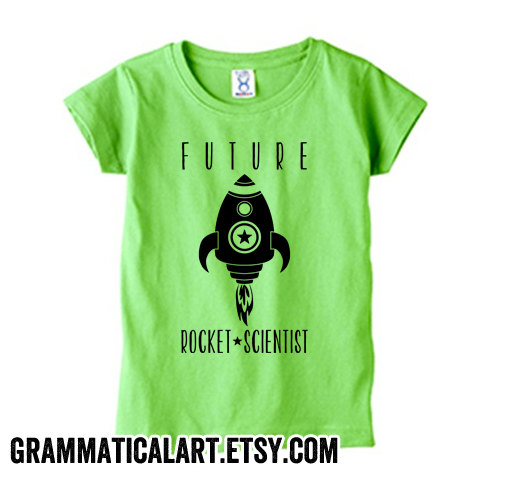 Toddler Future Rocket Scientist Shirt | Grammatical Art
