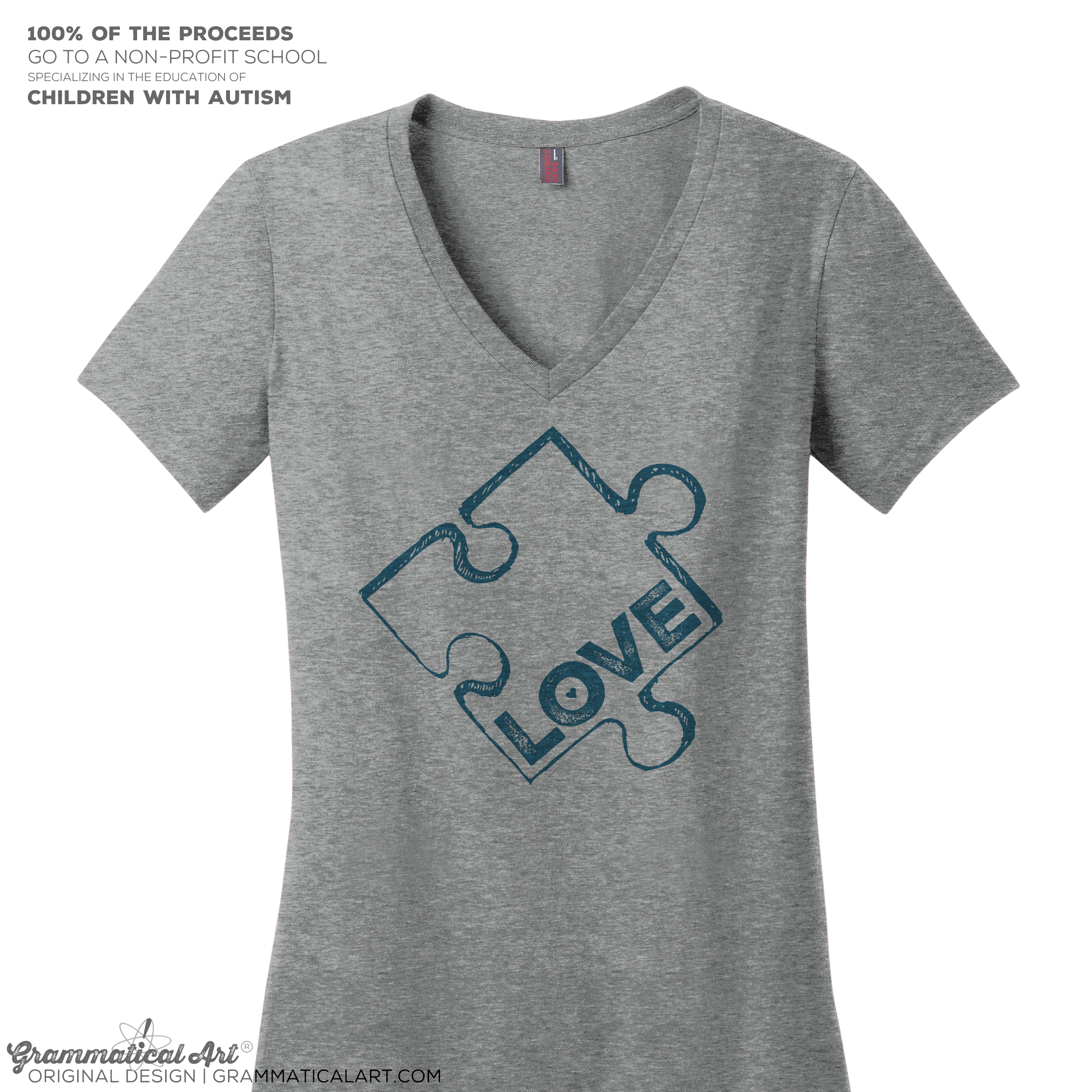 8a828da4b82 Autism Awareness Tee V-Neck | Grammatical Art