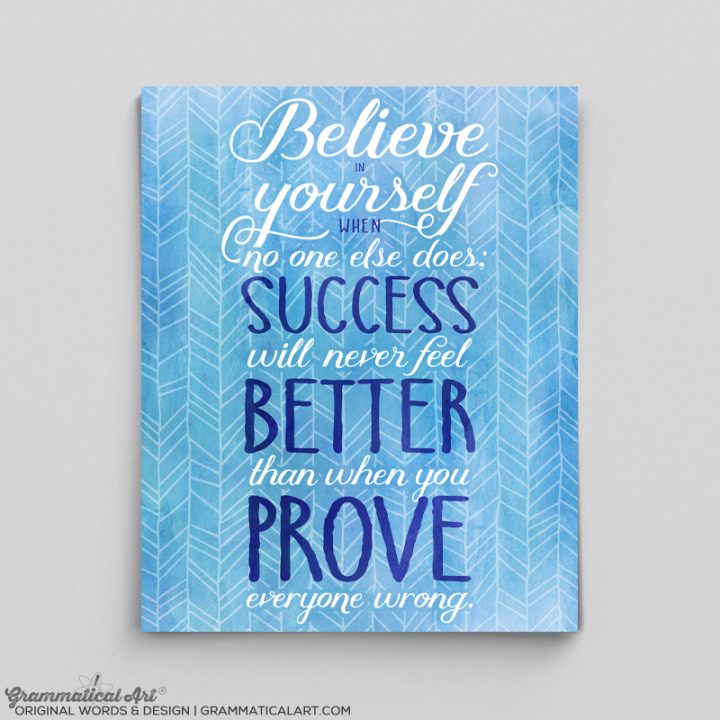 believe blue