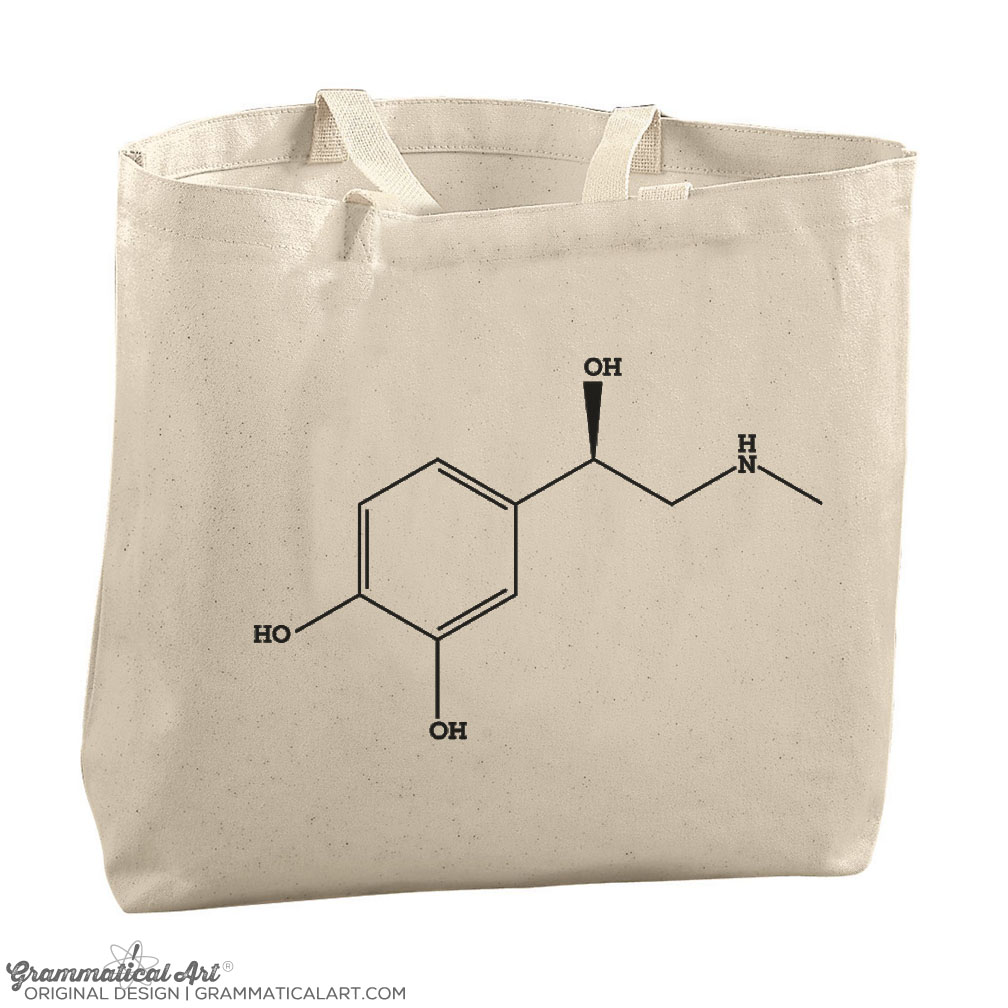Epinephrine Chemical Structure Jumbo Tote  5e69bd4501370