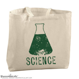 science beaker tote