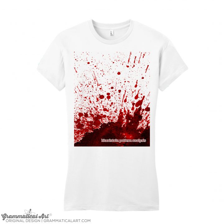 womens bloodstain white