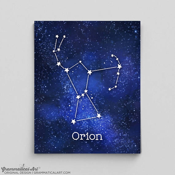 Orion Constellation Print Grammatical Art
