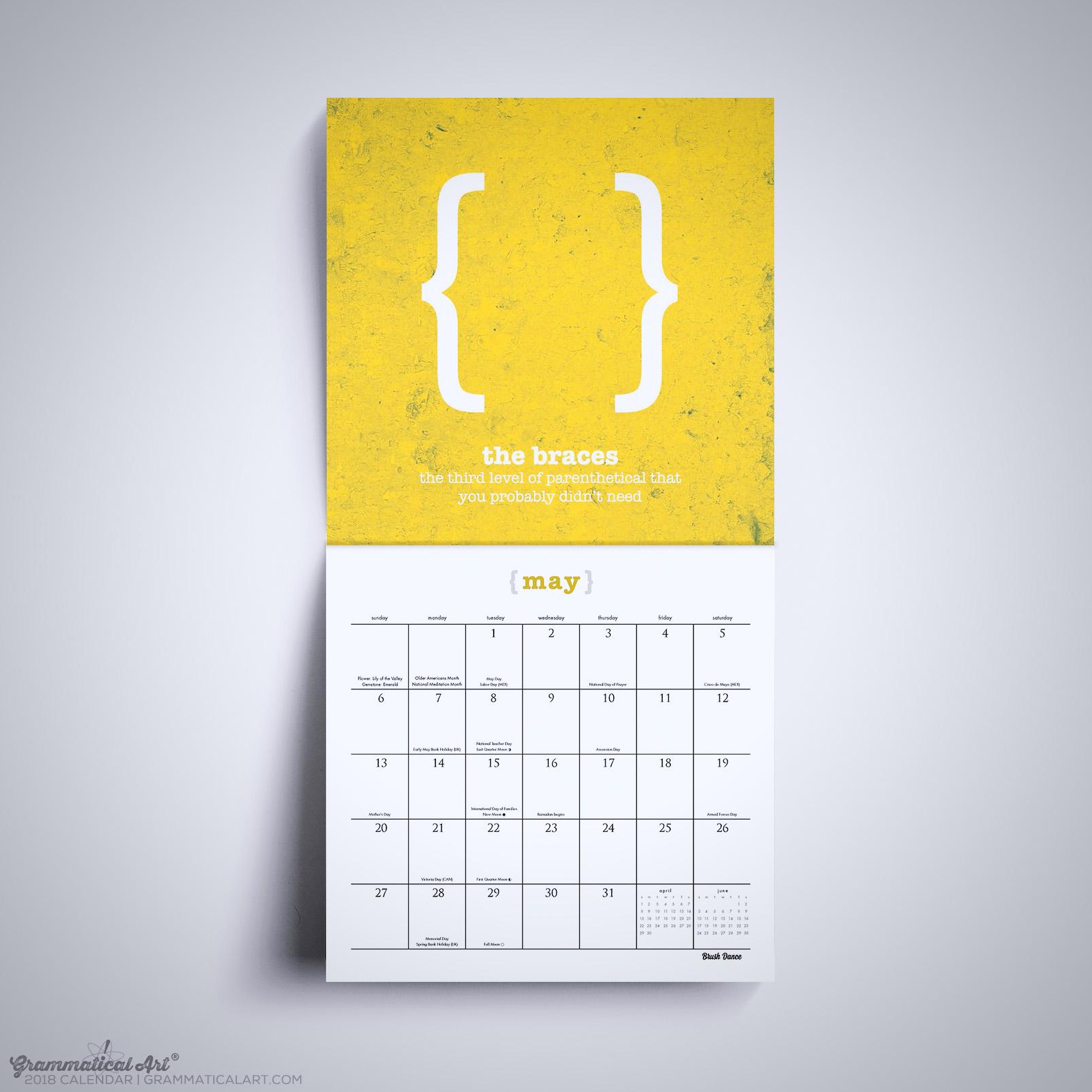 2018 Wall Calendar – Grammar Calendar Punctuation Edition ...