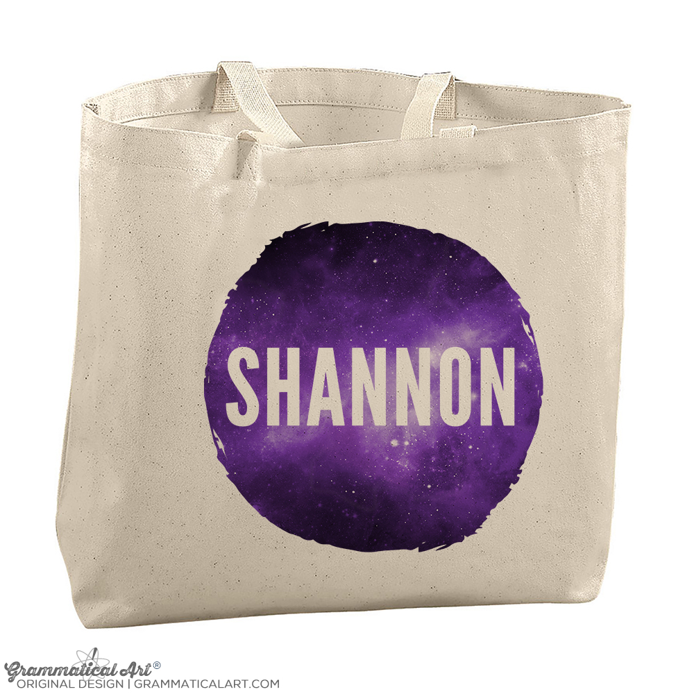 Personalized Tote Bag Galaxy Edition Watercolor